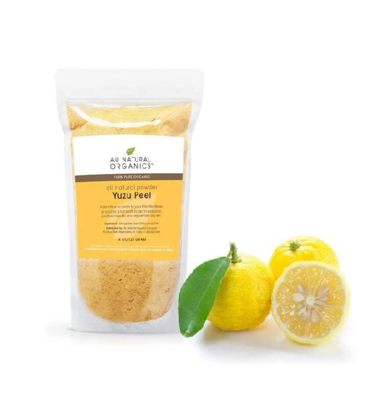 Yuzu peel powder Au natural organics - skin care - face care - muscle relaxers